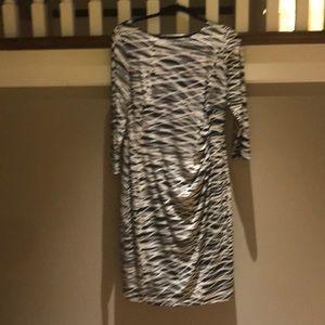 Anne Klein Black and White Dress